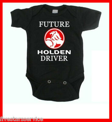 Rare New Funny Baby Boy Girl Clothes Cotton Bodysuit Black Romper Holden Driver