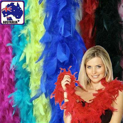 Turkey Feather Boa Scarf Costume Cosplay Dressup Decor Colorful Party CKFEA 54