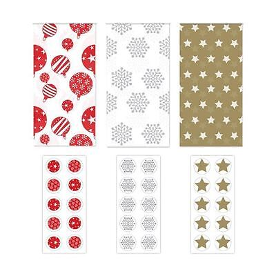 5 Tissue Paper Sheets 10 Sticker Christmas Gift Wrap Wrapping Frozen Craft Decor