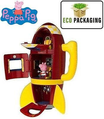 New Peppa Pig Electronic Spaceship Rocket With Speech & Sound Effects