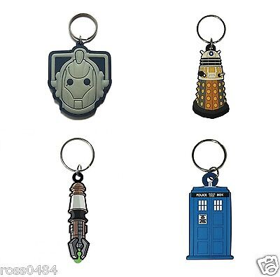 *CLEARANCE* DOCTOR WHO 3D Keyring Selection OFFICIAL Birthday Christmas Dr