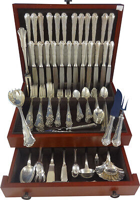 Savoy by Buccellati Sterling Silver Dinner Flatware Set 12 Service 134 Pcs Italy
