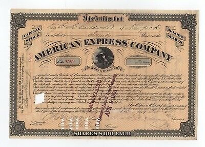 James C. Fargo - American Express Company Stock Certificate