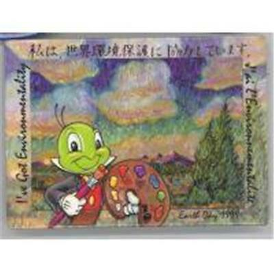 Jiminy Cricket I've Got  Environmentality Earth Day 1999 Disney Button 13449