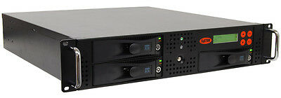 "Systor 1:2 HDD/SSD Duplicator, Rackmount - Copy & Erase 3.5"" & 2.5"" Hard Drives"