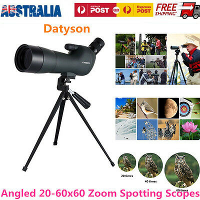 Waterproof 20-60x60 Zoom Precision Spotting Scope Tripod Bird Watching Telescope