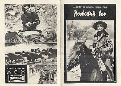 Last Hunt-Robert Taylor/stewart Granger-Original Yugoslav Movie Program 1956