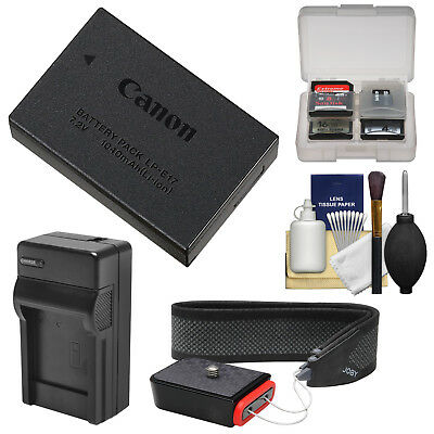 Canon LP-E17 Rechargeable Battery Pack Kit for EOS M3 Rebel T6i, T6s DSLR Camera