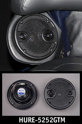 J&M HURE-5252GTM Performance 5.25 Rear Speaker Kit with Grills Harley Touring