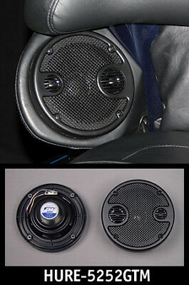 J&M Performance 5.25 Rear Speaker Kit with Grills Harley Touring