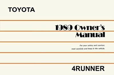 1999 toyota 4runner owners manual user guide reference operator book rh picclick com 1992 toyota 4runner owners manual 1990 Toyota 4Runner