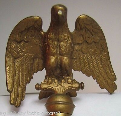 Old Eagle Finial Topper figural ornate high relief detail flag pole topper metal
