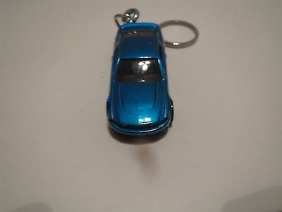 2010 2011 2012 Ford Mustang Coupe Diecast Model Toy Car Keychain New Teal Blue