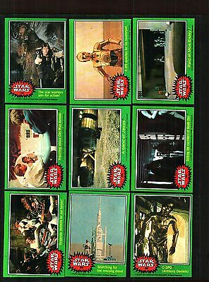 1977 Topps Star Wars Cards Series 4 Green.....ex To Near Mint Condition