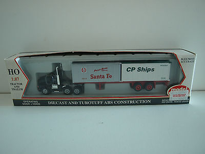 Model Power HO Tractor and trailer. SF/CP Ships