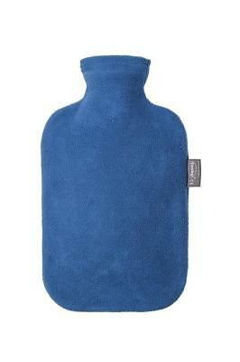 Fashy 2 Litre Hot Water Bottle Traditonal Style With Fleece Cover Red Blue Grey
