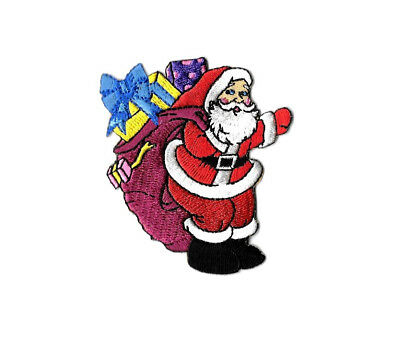 """Christmas - Santa Claus - Embroidered Iron On Applique Patch - 3""""H (7.6cm) -B"""