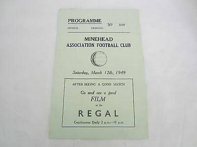 1948-49 NORTH DEVON LEAGUE MINEHEAD 'B' v BARNSTAPLE AAC