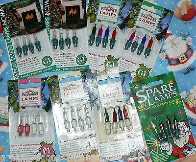 Genuine Noma Spare Christmas Tree Fairy Light Xmas Lamp Bulbs Many Vintage Types