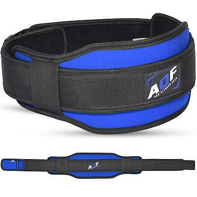 AQF Weight Lifting Belt Gym Training Back Support Neoprene Lumber Pain Fitness B