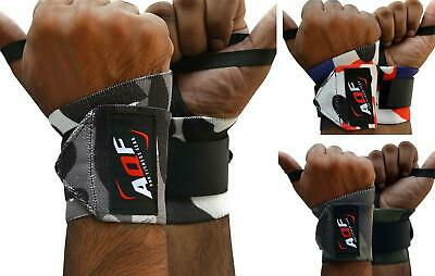 AQF Weight Lifting Wrist Wraps Bandage Hand Support Gym Straps Brace Cotton Camo