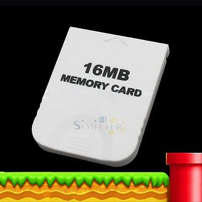 16MB White Memory Card for Nintendo GameCube Wii Game System Console New