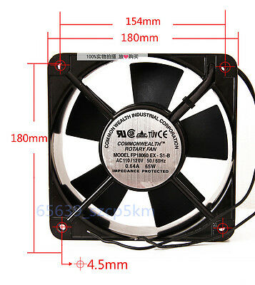 Commonwealth FP-18060 Double Ball-Bearing Metal Cooling Fan, 110 / 120VAC 0.64A