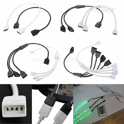 Female 4 Pins Flexible Conector Extension Cable para 3528 5050 RGB LED Luz Tira
