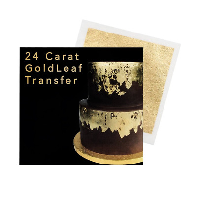 Sugarflair 24 Carat Edible Gold Leaf Transfer Sheet for Cake Decorating 8cm