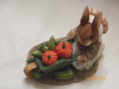 """Enesco """"autumn Harvests Love & Blessing"""" My Blushing Bunnies"""