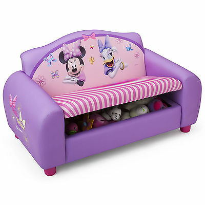 New Delta Children Disney Minnie Mouse Childs Upholstered Sofa With Storage