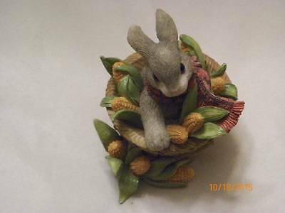 "Enesco ""a Sweet Basket Of Blessing"" My Blushing Bunnies"