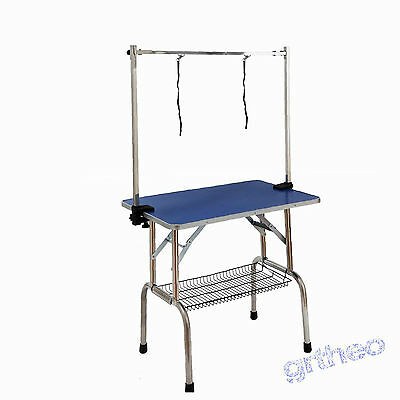 Dog Grooming Table Pet Care Aluminum Edging Stainless Steel Legs Pets Equipment