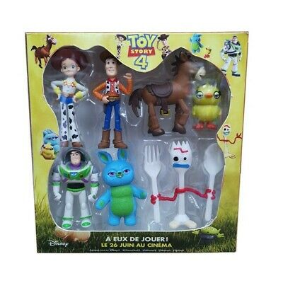 Baby Kid Child Toy Story 4 Woody Buzz Lightyear Jessie Forky Ducky Figurine Toy