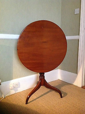 Antique Victorian (C 1880) Mahogany Occasional Tilt Top Table