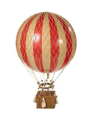 "Jules Verne Red 17"" Hot Air Balloon Hanging Aircraft Decor AP168R"