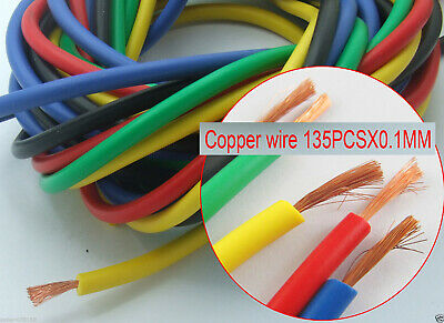 1 set 5 Colors 1M 3.3Ft Heatproof/Low Resistence Soft Silicon Wire 16AWG Cables
