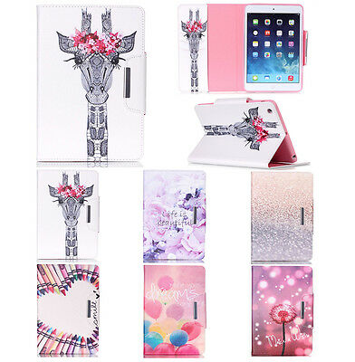 Pattern Leather Mangnetic Smart Case Stand Cover for Apple iPad 2 3 4 Air Mini