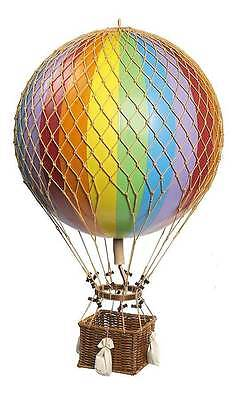 "Jules Verne Rainbow 17"" Hot Air Balloon Hanging Aircraft Decor AP168E"