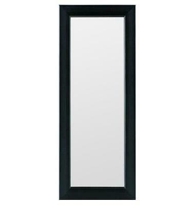 """NEW Gallery Solutions Brand Black Locker Mirror, 4"""" by 12"""" with Hanging Hardware"""