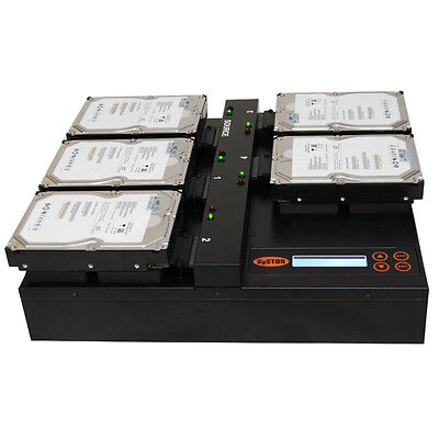 Systor Flatbed Hard Drive Cloner - Duplicate & Erase 4 HDD/SSD At A Time