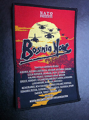 Scarce patch Bosnia Now NATO Presents -  movie theater military !
