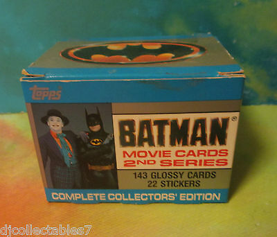 TOPPS BATMAN MOVIE CARDS 143 CARDS/22 STICKERS Complete #2 series Collector Set