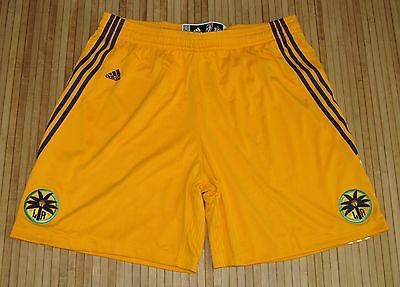 Adidas Authentic WNBA Los Angeles Sparks Revolution 30 Game Shorts Gold-3XL