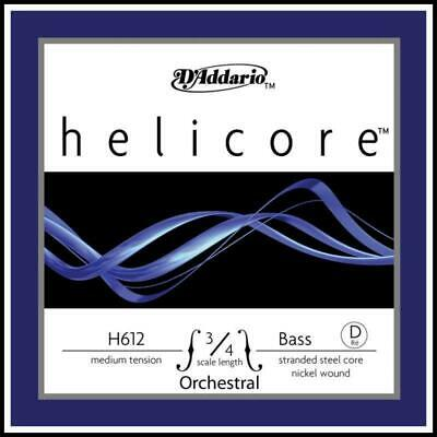 10 x D'Addario Helicore Orchestral 3/4 Bass Single D Strings Bulk Buy 50% off
