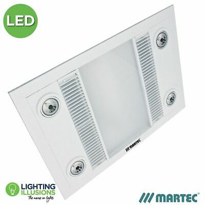 Martec Linear Led Bathroom Heater Exhaust Fan Light White 3In1 Mbhl1000W