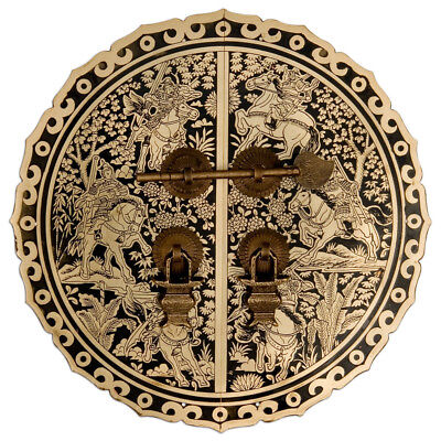 """Six Horses Cabinet Face Plate 9-1/2"""""""