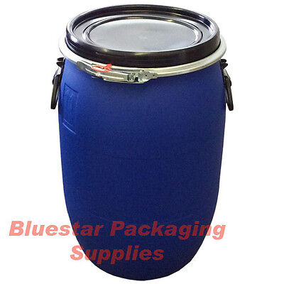 60L Litre Ltr Open Top Plastic Storage Drum Barrel Keg With Lid * Brand New *
