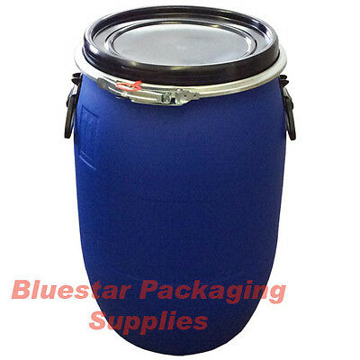60L Litre Open Top Plastic Storage Drum Barrel Keg With Lid Food Grade * New *