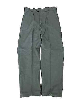 Vintage Swedish Army Wool Winter Olive Green Trousers, supergrade, very warm